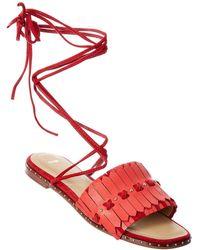 Maje - Fun Leather Sandal - Lyst