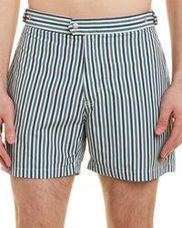 Solid & Striped Swim Trunk - Green