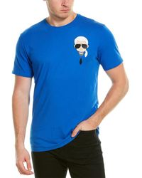 Karl Lagerfeld Karltoon Character T-shirt - Blue