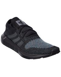 adidas Men's Swift Run Primeknit Low Top Sneakers - Black