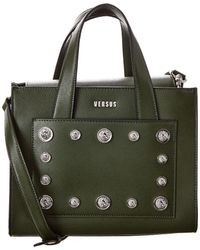 Versus Versus By Versace Leather Shoulder Bag - Green