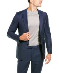 Ermenegildo Zegna 2pc Wool Suit With Flat Pant - Blue