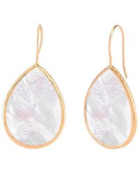 Gabi Rielle Gold Over Silver Mother-of-pearl Earrings - Metallic