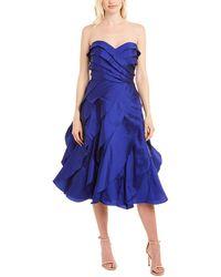 Carmen Marc Valvo Cocktail Dress - Blue