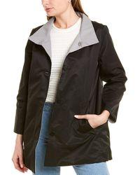 Eileen Fisher Petite Reversible Coat - Gray