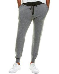 Phenix Tonal Trim Cashmere-blend Jogger Pant - Grey