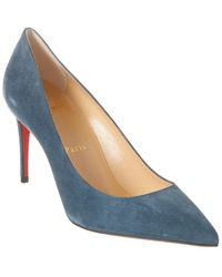 Christian Louboutin - Kate 85 Suede Pump - Lyst