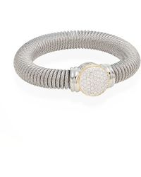 Alor | Diamond, Stainless Steel & 18k Yellow Gold Coil Bracelet | Lyst