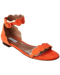 Tabitha Simmons Pearl Suede Sandal - Red
