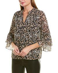 Kensie Bell-sleeve Top - Multicolor