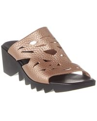 Arche Himara Leather Wedge Sandal - Metallic
