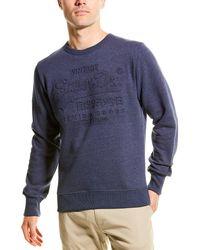 Superdry Premium Goods Embossed Debossed Sweatshirt - Blue