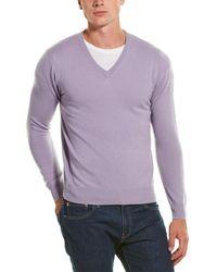 Phenix Cashmere V-neck - Purple