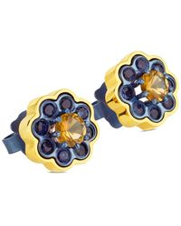 Tous View 18k & Titanium Gemstone Drop Earrings - Blue
