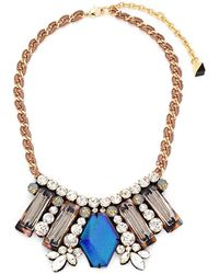 Nocturne Crystal Fei Statement Necklace - Metallic