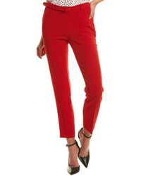 Karl Lagerfeld Belted Pant - Red