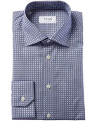 Eton Contemporary Fit Dress Shirt - Blue