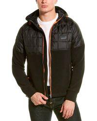 Superdry Polar Fleece Hybrid Jacket - Black