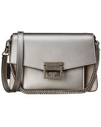 Givenchy Gv3 Small Metallic Leather & Suede Shoulder Bag - Multicolour