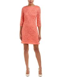 Sandra Darren Shift Dress - Pink