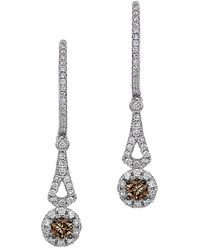 Le Vian Chocolatier 14k 0.55 Ct. Tw. Diamond Drop Earrings - Metallic
