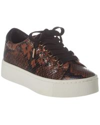 Joie Handan Python-embossed Leather Trainer - Multicolour