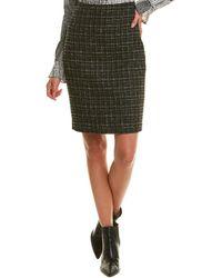 Karl Lagerfeld Tweed Pencil Skirt - Black