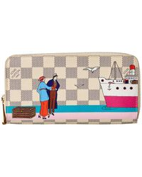 Louis Vuitton Damier Azur Illustre Canvas Zippy Wallet - Multicolour