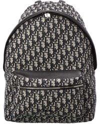 Dior Blue Trotter Canvas Oblique Backpack