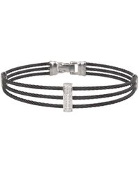 Alor 14k Diamond Cable Bracelet - Metallic
