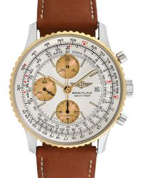Breitling - Vintage Breitling Old Navitimer Ii Stainless Steel, 18k Yellow Gold & Leather Watch, 41mm - Lyst