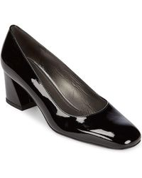 Stuart Weitzman Marymid Patent Leather Court Shoes - Natural