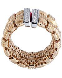 Roberto Coin - 18k Two-tone 0.31 Ct. Tw. Diamond Appassionata Ring - Lyst