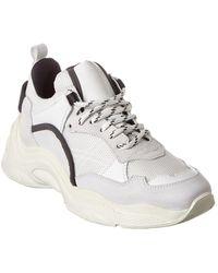 IRO Curve Runner Leather-trim Sneaker - White