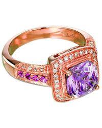 Le Vian 14k Rose Gold 1.85 Ct. Tw. Diamond & Pink Amethyst Ring
