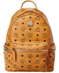 MCM Stark Small Studded Visetos Backpack - Multicolour