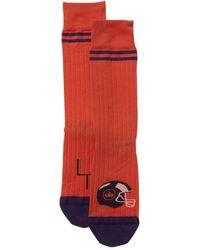 Peter Millar Football Socks - Orange