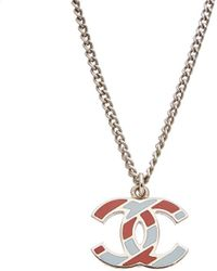 Chanel Silver-tone Cc Necklace - Metallic