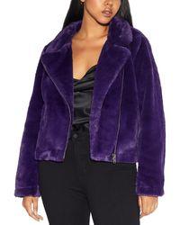 Apparis Tukio Coat - Purple