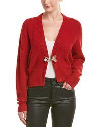 Dolce & Gabbana Dolman Alpaca & Wool-blend Cardigan - Red
