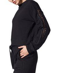 Nux Luxe Lattice Sweatshirt - Black
