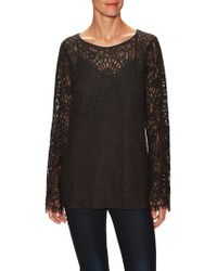 Falcon & Bloom - Patchwork Lace Blouse - Lyst