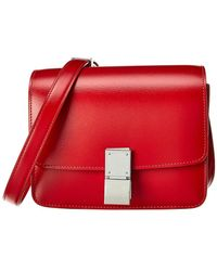 Céline Small Classic Leather Shoulder Bag - Red
