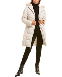 Kenneth Cole Quilted Coat - Gray