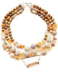 Alexis Bittar - Elements Triple Strand Geometric Beaded Bib Collar Necklace - Lyst