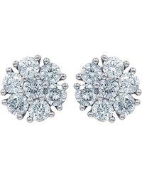 Diana M. Jewels . Fine Jewellery 14k 1.56 Ct. Tw. Diamond Studs - Blue