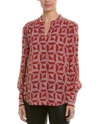 Joie Mintee Long Sleeve Blouse - Red