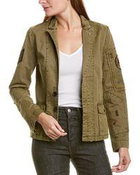 Zadig & Voltaire Virginia Grunge Military Jacket - Green