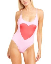 Chaser Big Heart One-piece - Pink