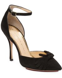 Charlotte Olympia - Suede D'orsay Sandal - Lyst